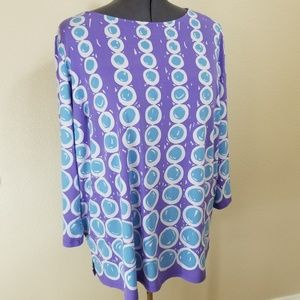 Bob Mackie Wearable Art Printed Tunic Size 2X